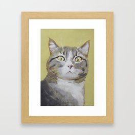 Cat Portrait #1 - Hattie Framed Art Print