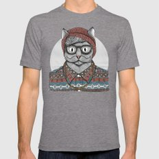 So Hipster SMALL Tri-Grey Mens Fitted Tee