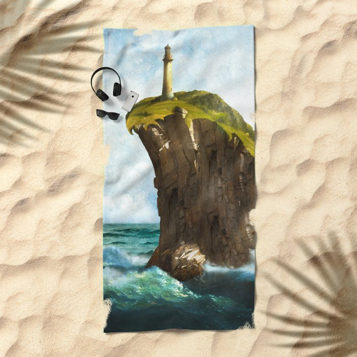 At the End of the Earth Beach Towel