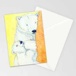 white bear Stationery Cards