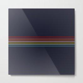 Polychrome Retro Stripes Metal Print