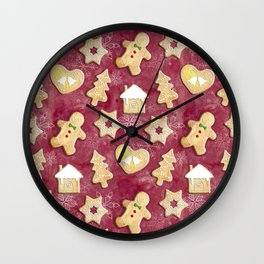 Gingerbread Christmas Cookies Wall Clock