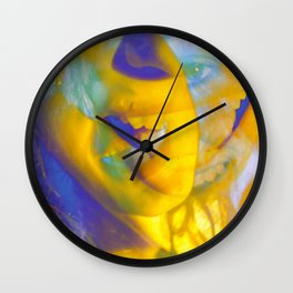 Linda Scott's Yellow Lake #5 Wall Clock