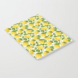 Yellow Lemon Watercolor Fruit Notebook