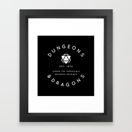 DUNGEONS & DRAGONS - WHERE THE IMPOSSIBLE BECOMES POSSIBLE Framed Art Print