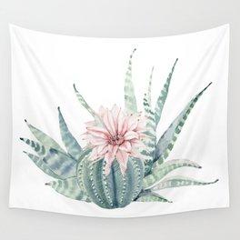 Petite Cactus Echeveria Wall Tapestry