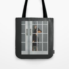 Guard Dog Doberman Pinscher Tote Bag