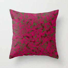 Rhubarb Spores Throw Pillow