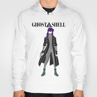 ghost in the shell Hoodies featuring Ghost in the Shell by Krbshadow