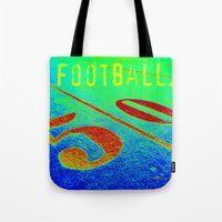 football Tote Bags featuring FOOTBALL. by TMCdesigns