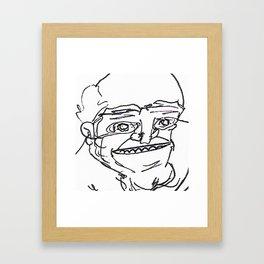 Mr Weirdface Framed Art Print