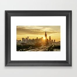 The Sunrise in Chicago Framed Art Print