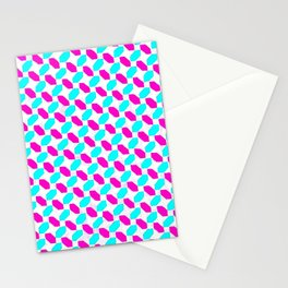 Inverted Pink & Light Blue Diamonds Stationery Cards