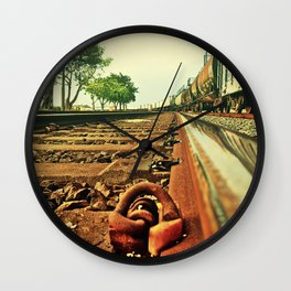 Train Track Wall Clock