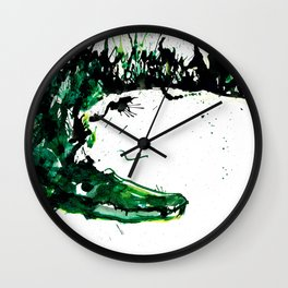 Cocodrilo waiting Wall Clock