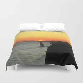 Sunsetting over the Great Southern Ocean Duvet Cover