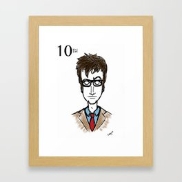 Doctor Who The 10th Doctor  Framed Art Print