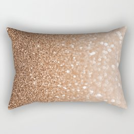 Copper Shiny Powder Texure Rectangular Pillow