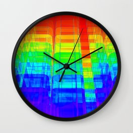 Colorful Abstract Structure Wall Clock