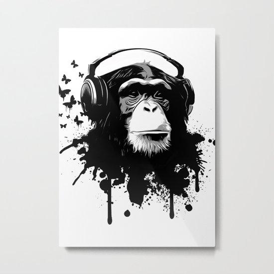 Monkey Business - White Metal Print