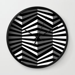 Shapes with presence Wall Clock