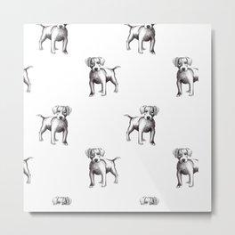 dog drawing Metal Print