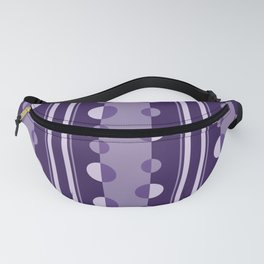 Modern Circles and Stripes in Violet Fanny Pack