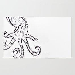 Octopus - Original Pen Ink Sketch Rug