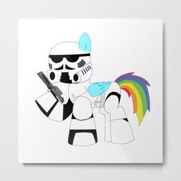 unicorn trooper rainbow Metal Print