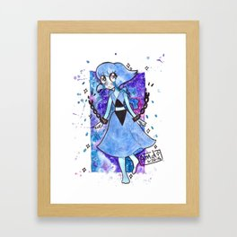 Space Rock Water Jesus Framed Art Print