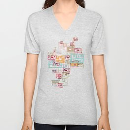 Many Faces Unisex V-Neck