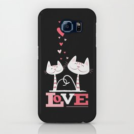 2 Cats in Love iPhone Case