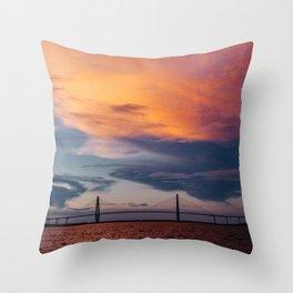 Charleston Sunset XII Throw Pillow
