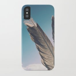 Brown Feathers iPhone Case