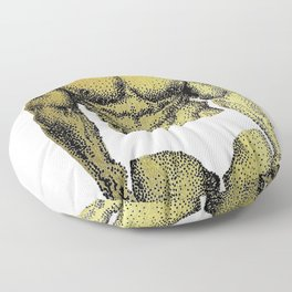 Pietro Gold - NOODDOOD (Gold doesn't print shiny) Floor Pillow