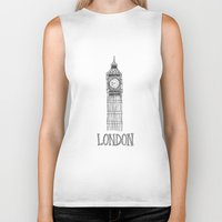 london Biker Tanks featuring London by Stacey Walker Oldham