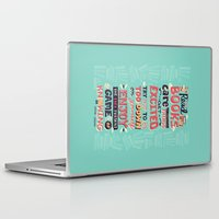 risa rodil Laptop & iPad Skins featuring Read Books by Risa Rodil