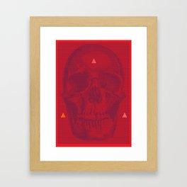 QUANTUM SKULL Framed Art Print