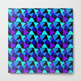 Night Colored Triangles Pattern Metal Print