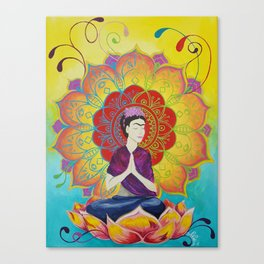 Frida Transcending Mandala and Lotus Blossom Canvas Print