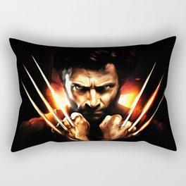Hugh Jackman - Celebrity Art (Action Movie Art) Rectangular Pillow