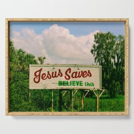 Jesus Saves Serving Tray