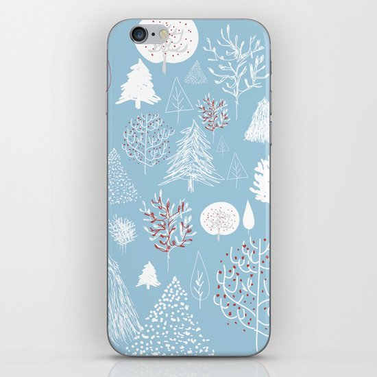 Christmas forest iPhone Skin