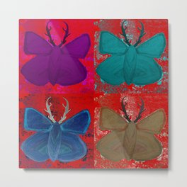Stagerfly Collage Metal Print