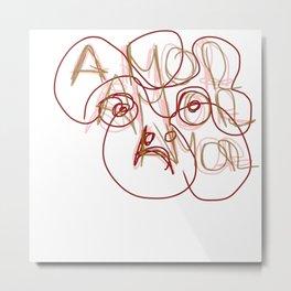 amor amor amor o desamor Metal Print