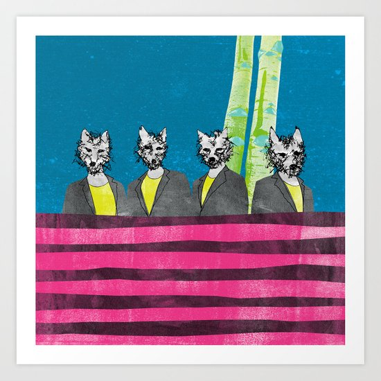 lupi (they are looking at you) Art Print