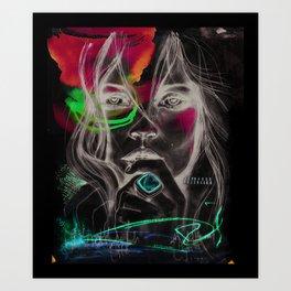 Kate Moss by Leo Tezcucano Art Print