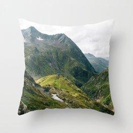 Alps of Switzerland Throw Pillow