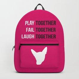 Kerri Logo - White Backpack