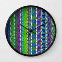 greece Wall Clocks featuring Greece by Kimberly McGuiness